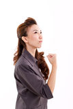 Successful business woman looking up Royalty Free Stock Photo
