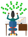 Successful business woman with money Royalty Free Stock Photography
