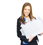 Successful Business Woman With Money Briefcase Royalty Free Stock Image