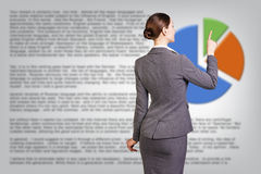 Successful business woman near diagram Royalty Free Stock Photo