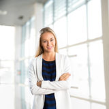 Successful business woman at office Stock Photos