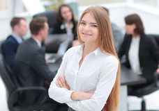 Successful business woman in the office Stock Image