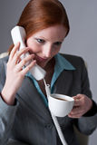 Successful business woman on the phone Stock Photos