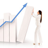Successful business woman with a graph Royalty Free Stock Image