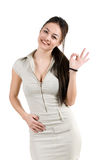 Successful business woman. Shows all is well Stock Image