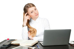 Successful business woman sitting at table Stock Photography
