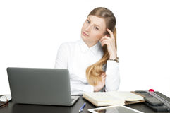 Successful business woman sitting for table Stock Image