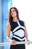 Successful business woman smiling Royalty Free Stock Photo