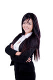 Successful Business woman. Studio shot of a successful business woman with arms crossed Royalty Free Stock Image