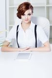 Successful business woman with tablet in hand Royalty Free Stock Photo