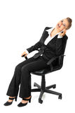 Successful business woman talking on mobile phone Royalty Free Stock Photography