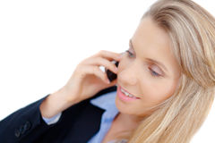 Successful business woman talking on phone Stock Images
