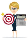 Successful business woman- teacher showing a Stock Images