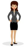Successful business woman on white background Stock Images