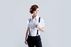 Successful business woman, on white background Royalty Free Stock Photos