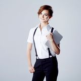 Successful business woman, on white background Royalty Free Stock Photography