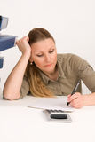 Successful business woman working Stock Photo
