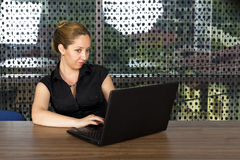 Successful business woman working on laptop Royalty Free Stock Photo