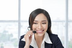 Successful business woman working at the office royalty free stock photo