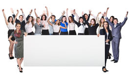 Successful business women holds empty blank Stock Photography