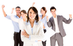 Business woman leading a team Stock Photography