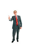 The successful businessman. The businessman assures that all perfectly Stock Photo