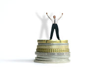 Successful businessman !. Businessman with arms up . Metaphor stock photography