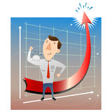 Successful businessman. There is  illustration Successful businessman Stock Photography