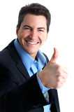 Successful businessman. Successful smiling businessman. Isolated over white background stock image