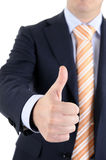 Successful businessman. Businessman with success. Thumbs up Royalty Free Stock Photo