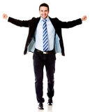 Successful businessman with arms open Royalty Free Stock Photos
