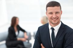 Successful businessman on blurred background office Royalty Free Stock Images