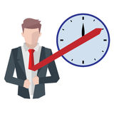 Successful businessman, business situations concept. Working in office, desire to succeed, teamwork and management. Flat vector cartoon illustration isolated Royalty Free Stock Photography
