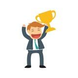 Successful businessman cartoon. Icon  illustration graphic design Stock Photos