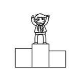 Successful businessman cartoon. Icon  illustration graphic design Stock Images