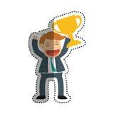 Successful businessman cartoon. Icon  illustration graphic design Royalty Free Stock Photo