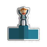 Successful businessman cartoon. Icon  illustration graphic design Royalty Free Stock Images
