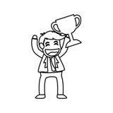 Successful businessman cartoon. Icon  illustration graphic design Royalty Free Stock Image