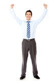 Successful businessman celebrating Royalty Free Stock Images