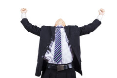 Successful businessman celebrating his victory Royalty Free Stock Images