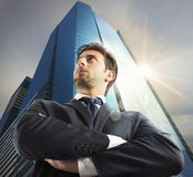 Successful businessman of the city Royalty Free Stock Image