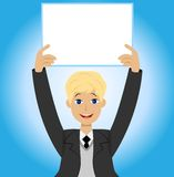 Successful businessman with a clean table in hands Royalty Free Stock Photography