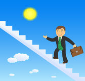 Successful businessman climbing stairs Royalty Free Stock Photography