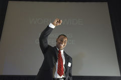 Successful Businessman At Conference Royalty Free Stock Images