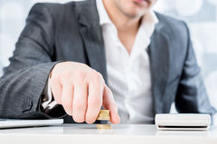 Successful businessman counting money Royalty Free Stock Photography
