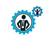 Successful Businessman creative logo, vector conceptual symbol i Stock Images