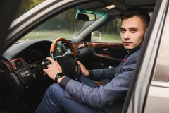 Stylish man. A young attractive man. Business Photo stock photos