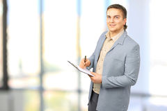 A successful businessman with documents Royalty Free Stock Image