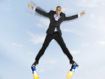 Successful Businessman Flying Royalty Free Stock Photos