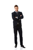 Successful businessman with folded arms. Royalty Free Stock Photos